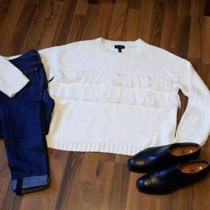{Jessica Simpson} Cozy Fringe Sweater